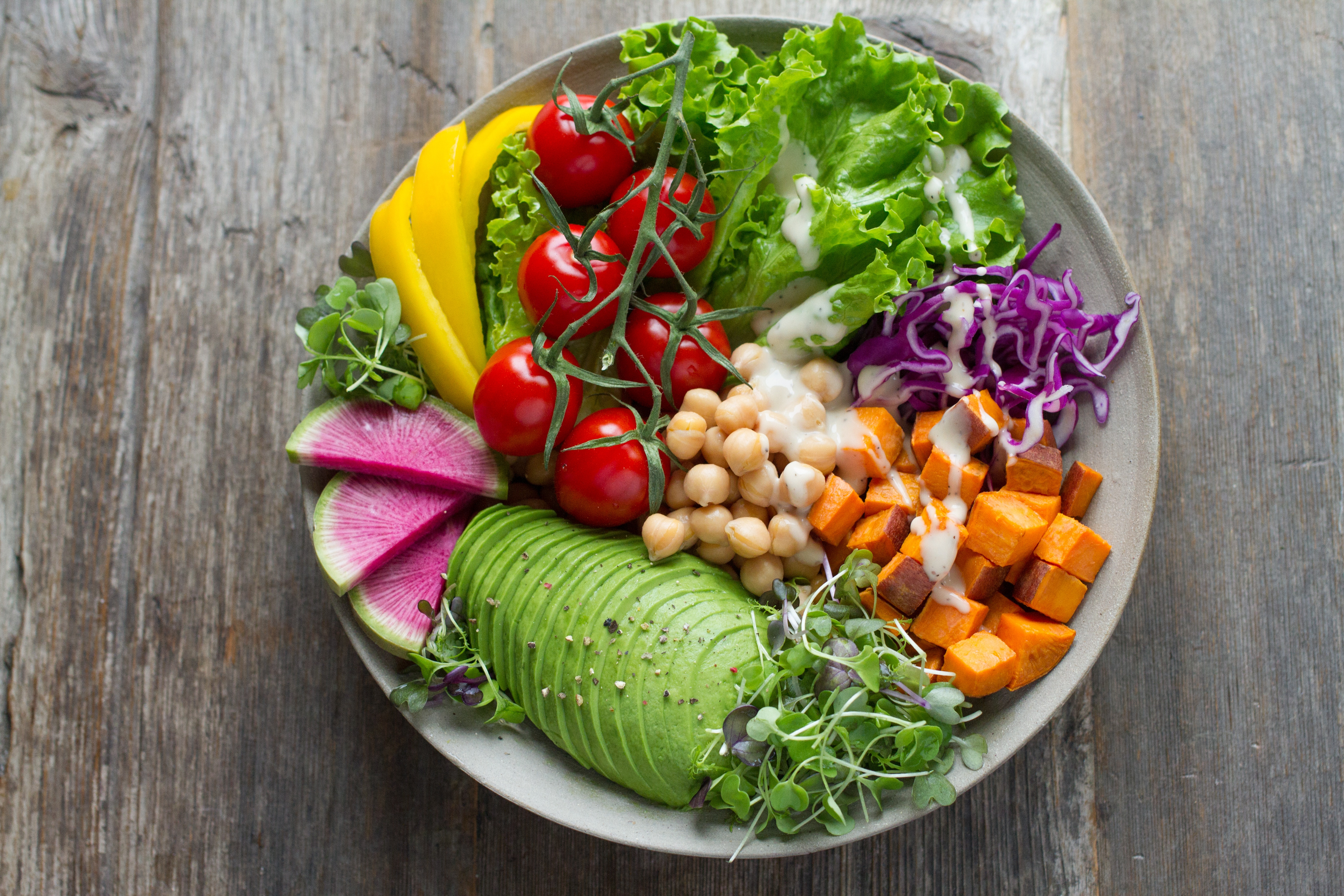 eating healthy meals, like this one, are an important part of living with diabetes