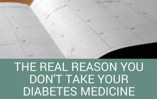 take your diabetes medication