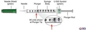 U-500 syringe